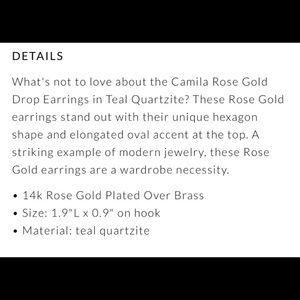 Kendra Scott Jewelry - NEW KENDRA SCOTT CAMILA ROSE GOLD DROP EARRINGS
